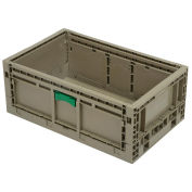 "Monoflo KD2415-09 Folding Transport Container, 23-15/16""L x 15""W x 9-1/2""H, Gray"