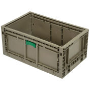 "Monoflo KD2415-11 Folding Transport Container, 23-15/16""L x 15""W x 10-15/16""H, Gray"