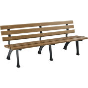 Park Bench With Backrest, 6'L, Tan