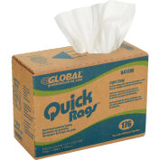 Quick Rags Light Duty Cleaning Wipers, 176 Sheets/Box, 10 Boxes/Case