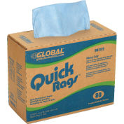 Quick Rags Heavy Duty Wipers, 80 Sheets/Box, 5 Boxes/Case