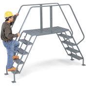 "EGA CO09 Steel Crossover 60 Degree 6-Step, 24"" Wide Grip Strut, Gray, 300 lb. Capacity"