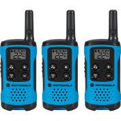 Motorola Talkbout® Two-Way Radios, Neon Blue, 3 Pack
