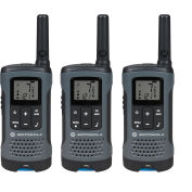 Motorola Talkabout® Rechargeable Two-Way Radios,Gray, 3 Pack