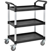 "High Capacity 3 Shelf Utility Cart, 550lb Cap, 26""L x 17""W x 39""H"