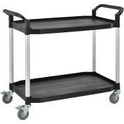 Large 2 Shelf Utility Cart, 440lb Cap