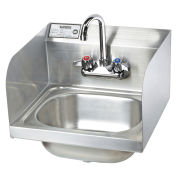 "Krowne 16"" Hand Sink with Side Splashes Compliant, HS-26L"