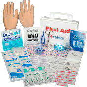 10 Person First Aid Kit, ANSI Compliant, Plastic Case