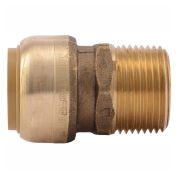 "SharkBite Male Connector, Push To Connect, 3/4"", U134LF"