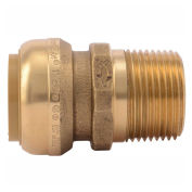 "SharkBite Male Connector, Push To Connect, 1"", U140LF"