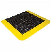 Wearwell ErgoDeck No-Slip Kit Drainage, Black, 48 x 42 x 7/8