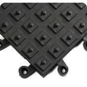 Wearwell ErgoDeck w/Integrated No-Slip Solid Cleats, Black, 18 x 18 x 7/8, 10/Pk