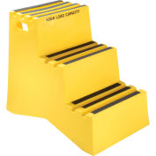 "3 Step Plastic Step Stand, 20""W x 33-1/2""D x 28-1/2""H, Yellow"