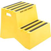 "2 Step Plastic Step Stand, 21""W x 24-1/2""D x 19-1/2""H, Yellow"