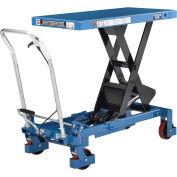2200 Lb. Capacity Mobile Heavy Duty Scissor Lift Table, 40 x 20 Platform