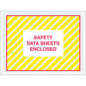 """4-1/2""""x6"""" SDS Enclosed, Yellow/Red Full Face, 1000 Pack"""