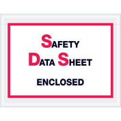 """6-1/2""""x5"""" SDS Enclosed, Printed Clear, 1000 Pack"""