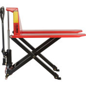 2200 Lb. Capacity Manual High-Lift Skid Jack Truck, 20.5 x 45 Forks