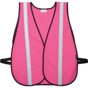 "Hi-Vis Pink Safety Vest with 1"" Reflective Strip, Polyester, One Size"