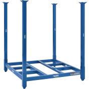 "4000 Lbs Capacity Steel Portable Stack Rack, 48""W X 48""D X 48""H, Blue"
