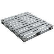 """40""""L x 48""""W Galvanized Steel Pallet"""