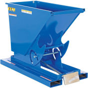 1/4 Cu. Yd. Self-Dumping Light Duty Steel Hopper with Bump Release, 2000 Lb., Vestil D-25-LD
