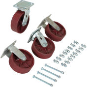 "6"" x 2"" Ductile Steel Caster Kit, For Vestil Hopper, 8000 Lb. Cap., Vestil D-CK4-SC6-2HD"