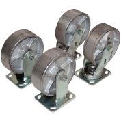 """8"""" x 2"""" Semi-Steel Caster Kit, For Vestil Hopper, 4800 Lb. Cap., Vestil D-CK4-SC8-2"""