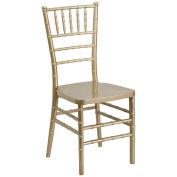 Stacking Chiavari Chair, Resin, Gold - Pkg Qty 4