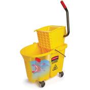 Rubbermaid Wavebrake Mop Bucket & Wringer Combo W/ Side Press, 26 Qt.