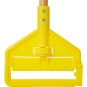 "Rubbermaid FGH116000000 60"" Invader Side Gate Wood Mop Handle, Yellow - Pkg Qty 12"