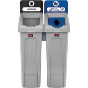 Slim Jim Recycling Station, Landfill/Mixed Recycling, (2) 23 Gallon