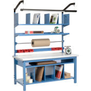 """72"""" x 30"""" Complete Packaging Workbench Plastic Safety Edge"""