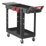 Rubbermaid Commercial Products 1997206 Heavy Duty Adaptable Utility Cart, Black, Small