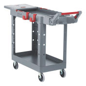 Rubbermaid Commercial Products 1997207 Heavy Duty Adaptable Utility Cart, Gray, Small