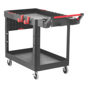Rubbermaid Commercial Products 1997208 Heavy Duty Adaptable Utility Cart, Black, Medium