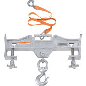 Double Fork Forklift Hook Attachment, Swivel Hook, 4000 Lb. Cap.