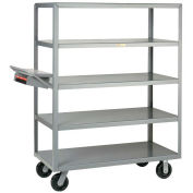 Little Giant Multi-Shelf Truck 5 Flush Shelves 30x48 Writing Shelf Pocket, 5M-3048S-6PHWSP