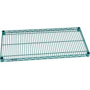 "Nexel 72""W x 12""D Poly-Green™ Epoxy Wire Shelf"