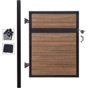 Infinity Euro Estate EF ET1216, Adjustable Single Fence Gate Kit, In Ground, 4'Wx6'H, King Cedar