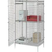 """48""""W x 24""""D x 66""""H Poly-Z-Brite® Security Shelving Unit"""