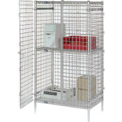 "48""W x 24""D x 66""H Chrome Security Shelving Unit"