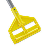 "Rubbermaid FGH145000000 54"" Invader Side Gate Wood Mop Handle, Yellow"