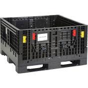 Plastic Folding Bulk Shipping Container, 1500 lb. Capacity, 48 x 44-1/2 x 27