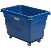6 Bushel HDPE Plastic Box Truck with Steel Base, Blue