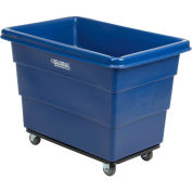 8 Bushel HDPE Plastic Box Truck with Steel Base, Blue