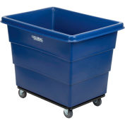 12 Bushel HDPE Plastic Box Truck with Steel Base, Blue