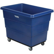 16 Bushel HDPE Plastic Box Truck with Steel Base, Blue