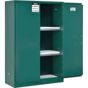 "45 Gallon Pesticide Storage Cabinet, Manual Close, 43""W x 18""D x 65""H"