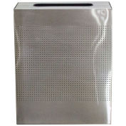 Witt Industries CLRC40-SS 40 Gal. Steel Decorative Rectangular Waste Receptacle, Stainless Steel